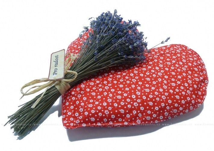 Hřející červené srdíčko - lze obohatit o levanduli