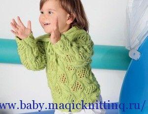 Красивый пуловер для девочки