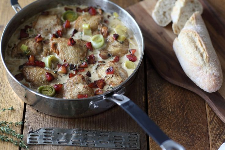 Our delicious recipe for Cider Chicken using Dunkerton's gorgeous Black Fox Cider.