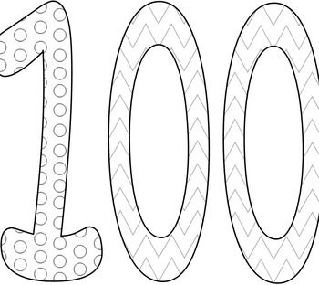 hundredth day coloring pages - photo#26