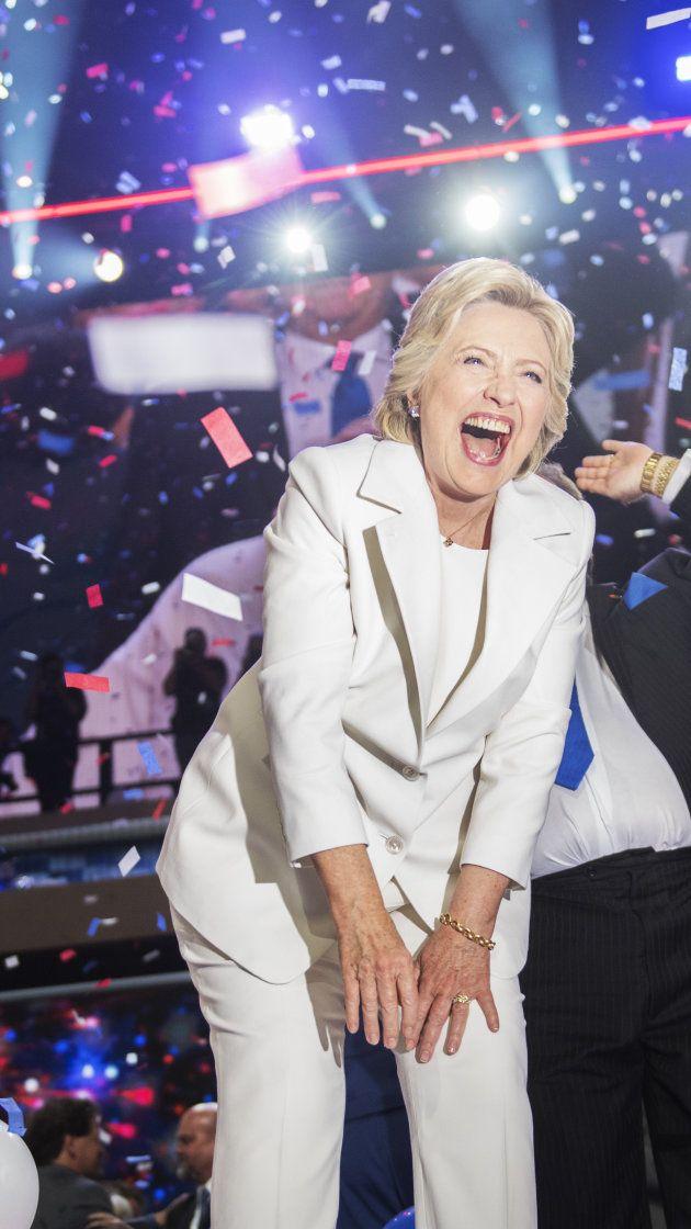 Ralph Lauren revealed as designer of Hillary Clinton's historic white pantsuit