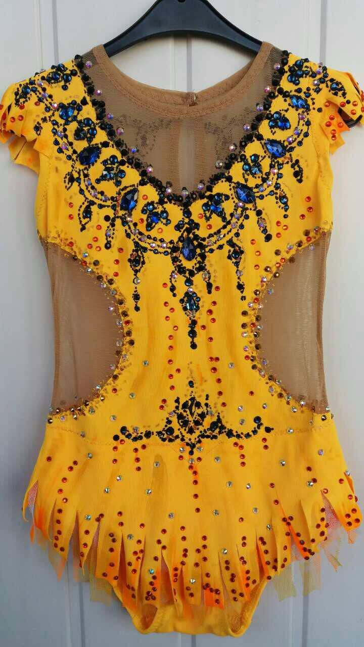 Beautiful designer rhythmic gymnastics leotard handmade . The leotard is made with 2200 rhinestones very high quality. Design drawing on fabric acrylic paints. The price shown for growth to 110-116cm. You can order any size and any color, the price will be correct. Please let us