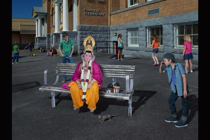 """Lord Ganesh """"Gods of Suburbia"""": Dina Goldstein's Arresting Photo Series Featuring Ancient Gods in Modern-Day Scenarios • Page 5 of 6 • BoredBug"""