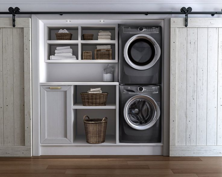 Everything you need to (safely) stack your dryer on top of your washer. For use…