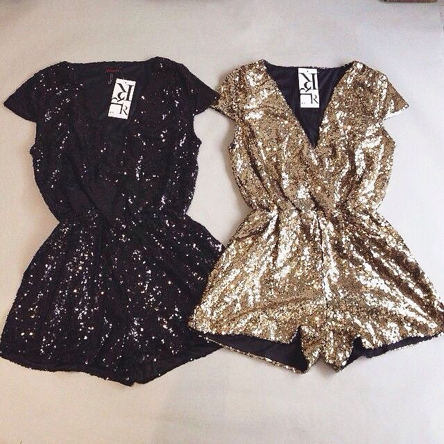 sequin rompers