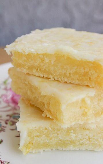 Cakey lemon bar 'brownies'