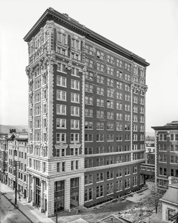 "Tower of the Press Binghamton, New York  c 1905 ""Kilmer (Press) Building. Chenango Street."""