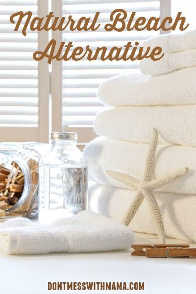 Homemade Natural Bleach Alternative #essentialoils #greenliving - DontMesswithMama.com