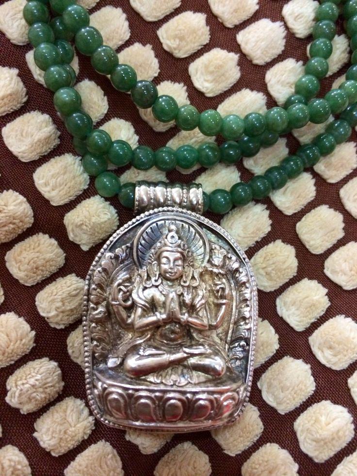 Chenrezig (Avalokitesvara) In Silver Gao