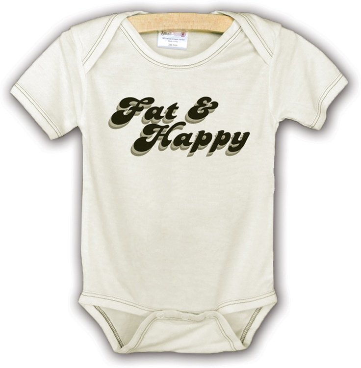 Fat & Happy, natural bodysuit size 3-6 #baby