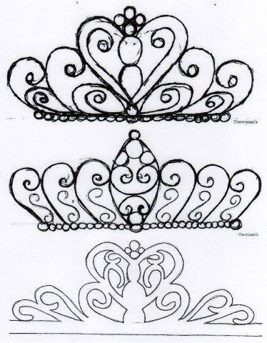 218 best Fondant Bows, tiaras and crowns images on Pinterest - crown template