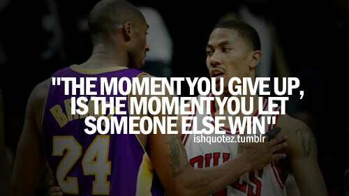 Never give up, Basketb... Never Give Up Quotes Sports Basketball