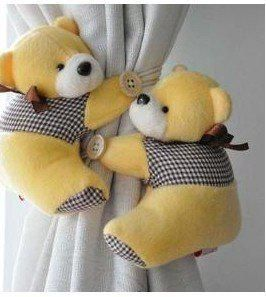 pares / urso janela cortina hanger holdback buckle grampo de gancho belt 5 cores frete