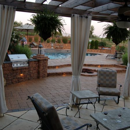This Pool Deck Is Enhanced With The Addition Of A Cooking Area Built From  The Same. Paver Patio CostPool ...
