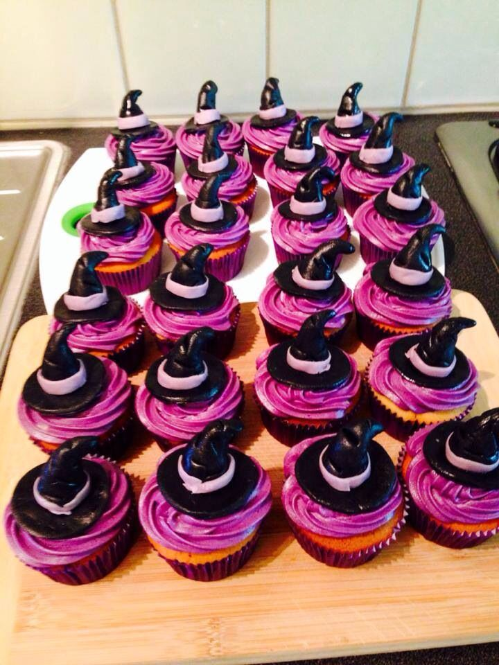 Heksen hoedjes cupcakes