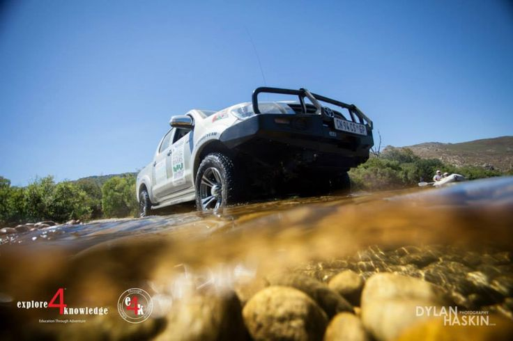 #Toyota #Hilux vehicles crossing #rivers in the #Cederberg on a 5 day #e4k_water #education project in the #Cederberg #explore4knowledge #e4k_JohnLucas