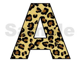 LEOPARD ALPHABET LETTER wall art decals for jungle room decor. For baby nursery, children's room, or teen stickers. Spell a NAME or your favorite SAYING. Bright vivid colors. Beautiful and unique #decampstudios