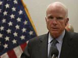 Senator McCain blasted a report on the administration's new Syria posture just hours after revealing he had a cancerous brain tumor
