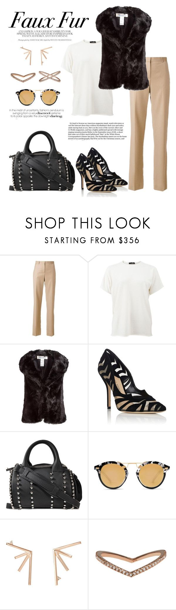 """""""Faux Fur"""" by windrasiregar on Polyvore featuring Givenchy, The Row, Comme des Garçons, Paul Andrew, Alexander Wang, Krewe and Eva Fehren"""