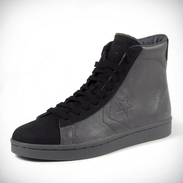 converse x ace hotel slate pro leather high tops shoe