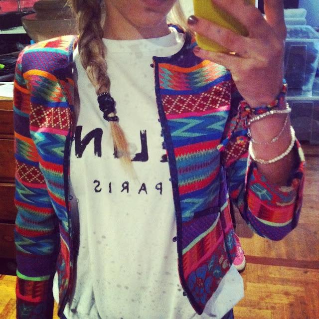 Céline tee and aztec jacket:mine!