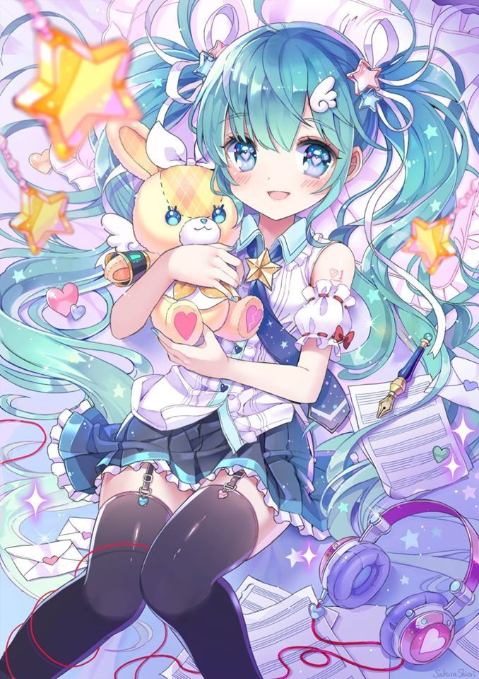 Miku Hatsune and your friend Teddy