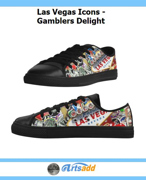 Las Vegas Icons - Gamblers Delight Aquila Action Leather Women's Shoes (Model 028)   LAS VEGAS! Popular sights in Las Vegas, including the Las Vegas Welcome Sign, Poker chips, dice , slot machines and more. (Las Vegas icons, Las Vegas , Gravityx9 ) #Artsadd #Gravityx9 #LasVegasIcons -