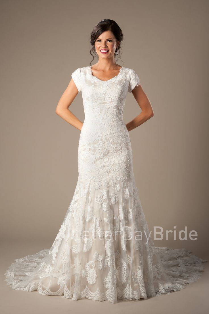 17 images about beautiful dresses on pinterest maggie for Lds wedding dresses lace