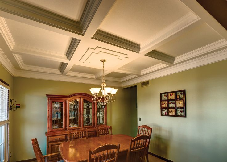 Upgrade any space by creating a coffered ceiling with Trim-Tex.