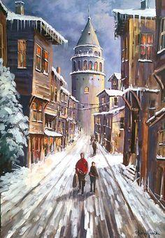 Turkish artist Kerim Yavuz Paintings