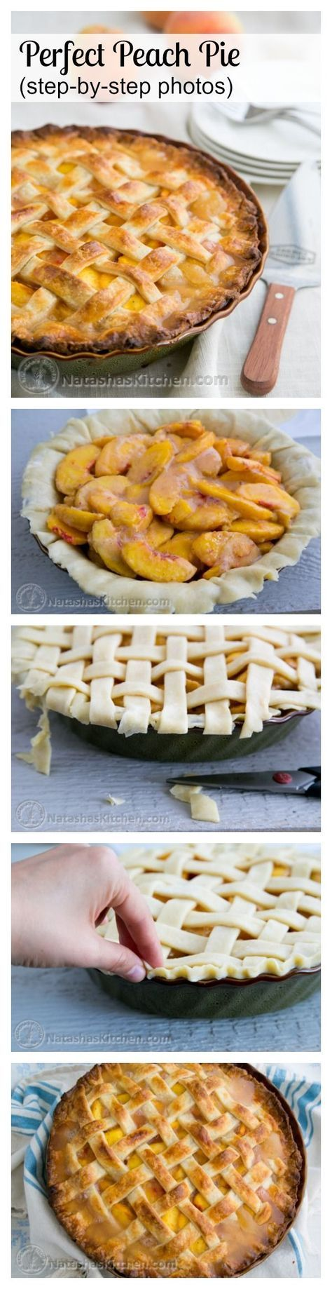 You have to try this deep dish peach pie! It's wonderful and not overly sweet. Keep this one for peach season! @natashaskitchen