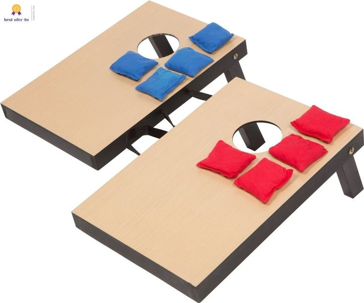 Toss Corn Hole Game play Set 2 Boards 8 Bean bags outdoor Fun for the Family | Sporting Goods, Outdoor Sports, Backyard Games | eBay!