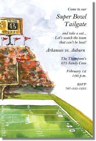 Football Stadium Invitations - Creations By Leslie