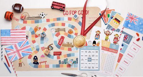 FREE PRINTABLES -  adorable range of kids printable games with an Olympic theme