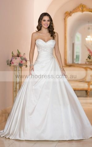 Ball Gown Sweetheart Empire Sleeveless Floor-length Wedding Dresses wes0105--Hodress