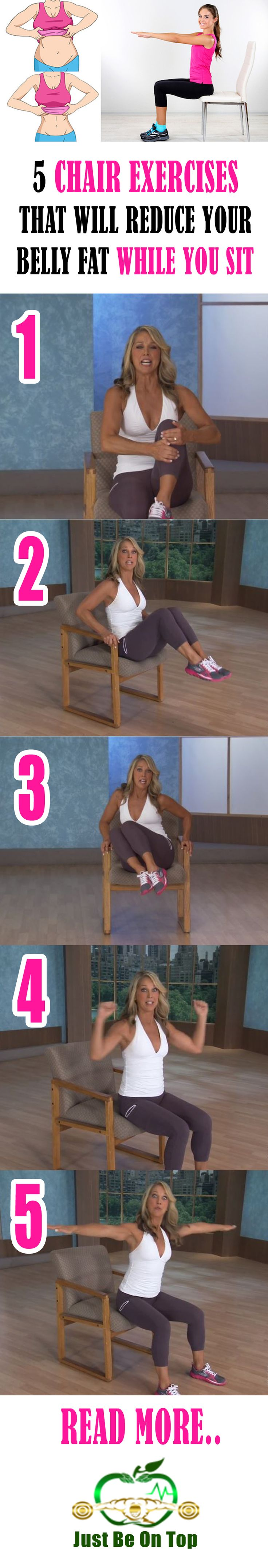 If you are one of those people that have sedentary work and do not have enough physical activities per day, then you might want to try to workout during sitting. All you need to do is to perform chair exercises that will help you to stay fit and good looking even you are sitting most of the time.
