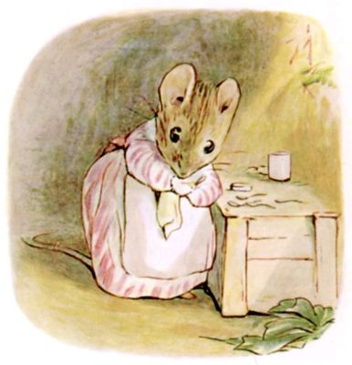 Next morning she got up very early and began a spring cleaning which lasted a fortnight. She swept, and scrubbed, and dusted; and she rubbed up the furniture with beeswax, and polished her little tin spoons.