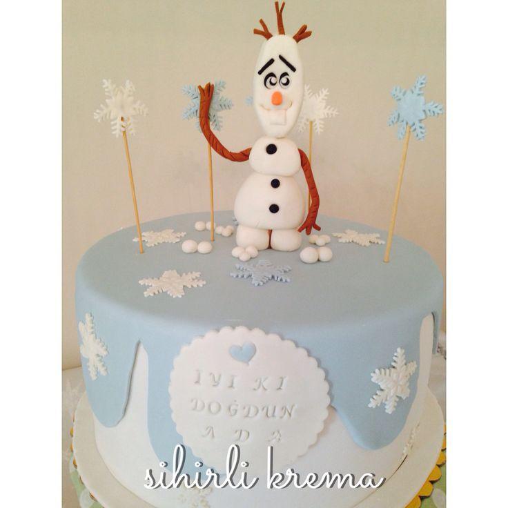 #frozen #olaf #fondantcakes #butikpasta #sugarart