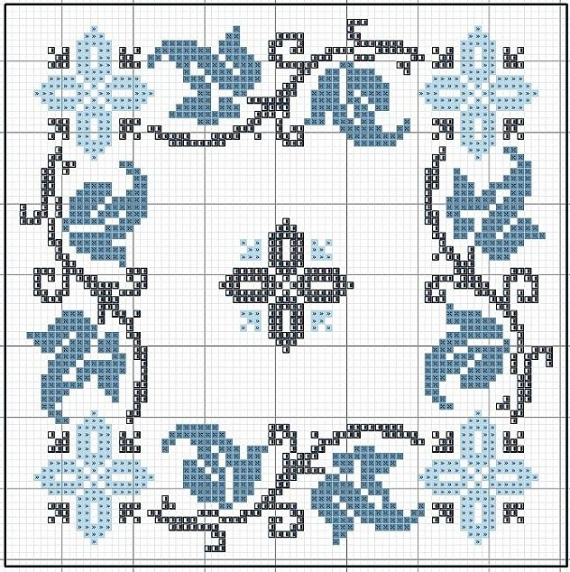 .cross stitch biscornu floral
