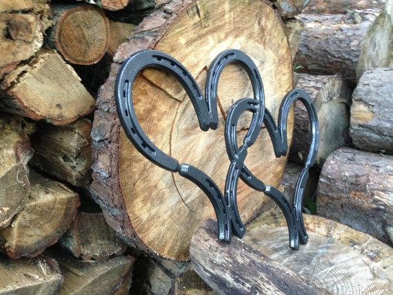 Simple and elegant Metal Double Horse Shoe by RusticDesignsByRiley, $55.00