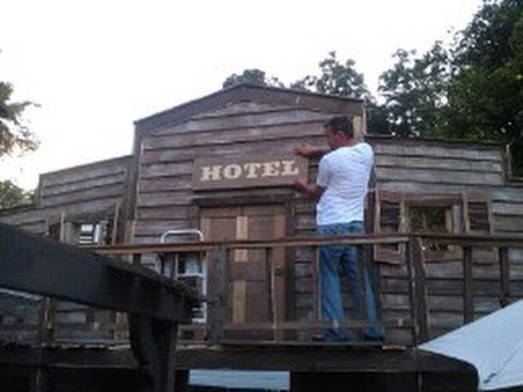 How To Make An Old Western Saloon Facade Part 4 Youtube Halloween Deadwood Ghost Town