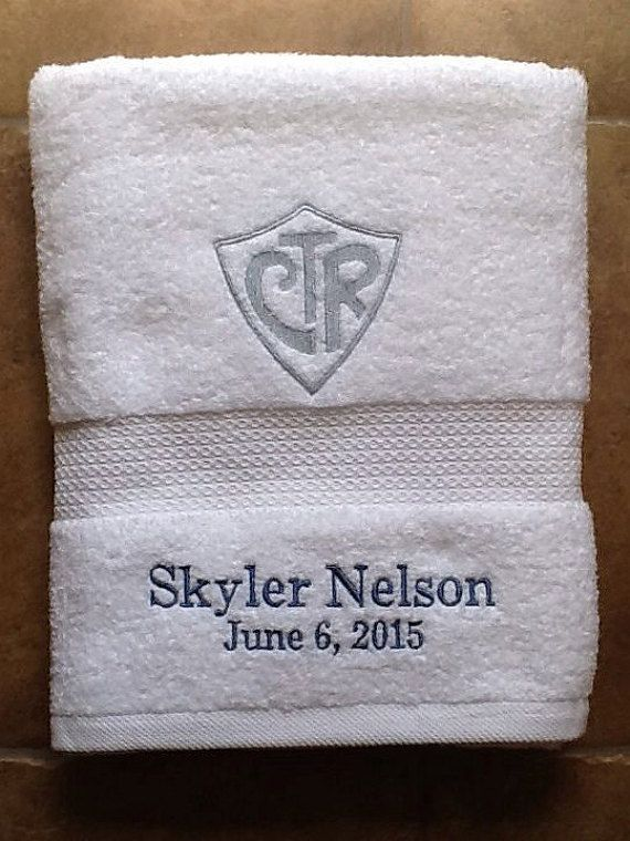 CTR baptism towel personalized by PrettyPieces5 on Etsy