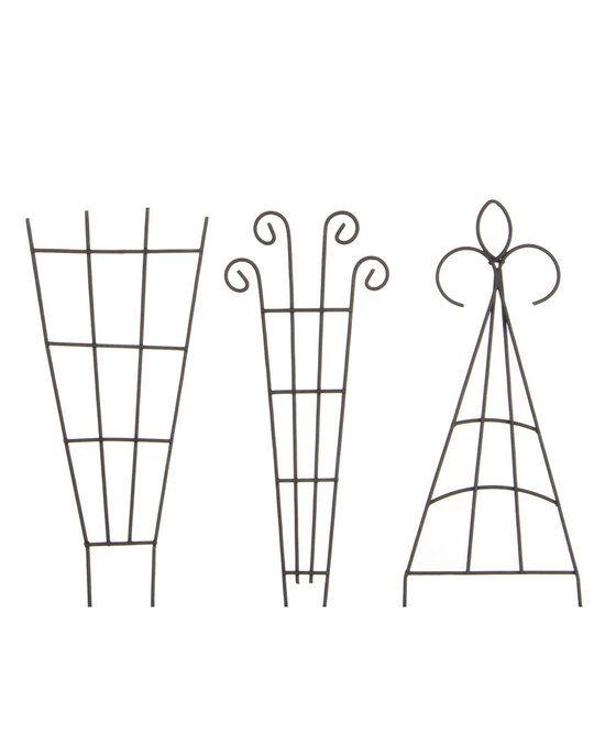 MiniGarden Trellis hek set bruin  Deze drie sierlijk gekrulde trellis hekjes passen in iedere minigarden! Leuk om groene plantjes tegenop te laten klimmen. Afmeting mini garden hek: 6 x 145 cm Gemaakt van metaal Geschikt voor binnen en buiten  EUR 4.99  Meer informatie