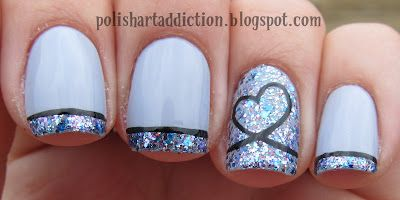 Polish Art Addiction: Shimmer Polish - LesliePolish Art, Heart Nails, Nails Art, Toes Design, French Manicures, Art Addict, Glitter Nails, French Tips, Shimmer Polish