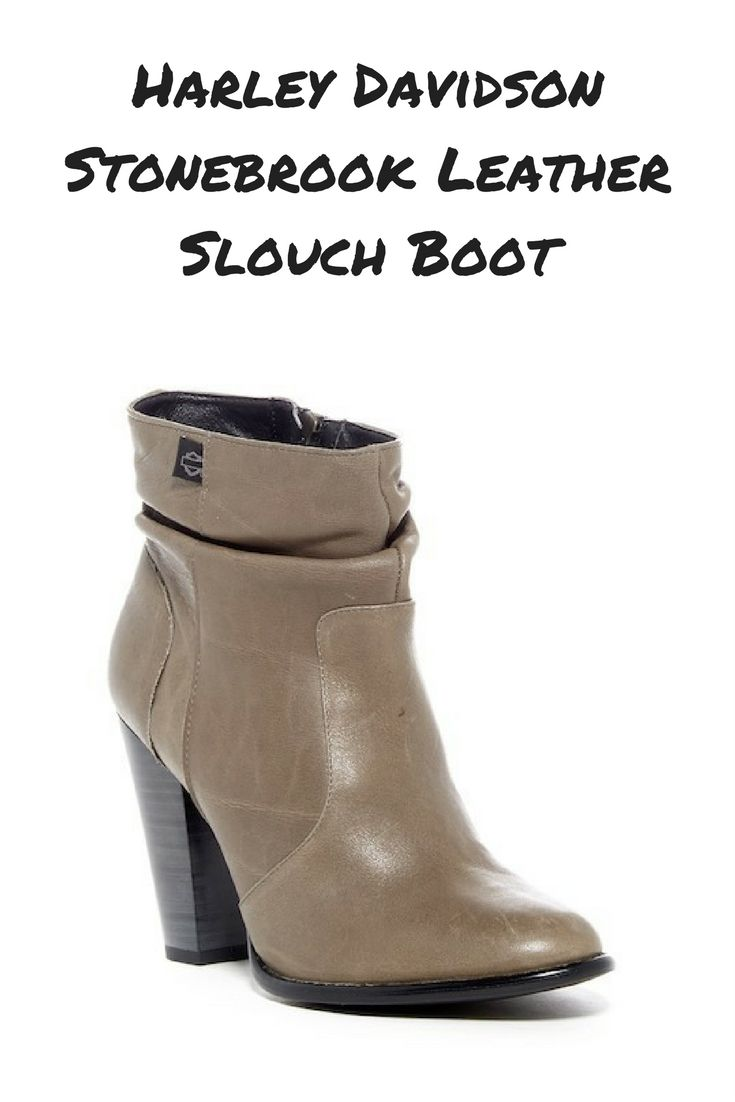Harley Davidson Stonebrook leather slouch boots. These boots look like they need to have some fun! #harleyboots #harelydavidson #harley #boots #bikerboots #leatherboots #slouchboots #ad