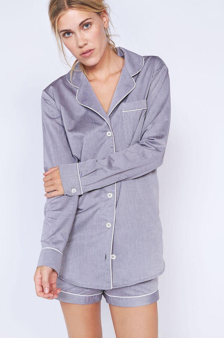 Desmond Short Grey Luxury Cotton Womens Pyjama Set – Desmond & Dempsey