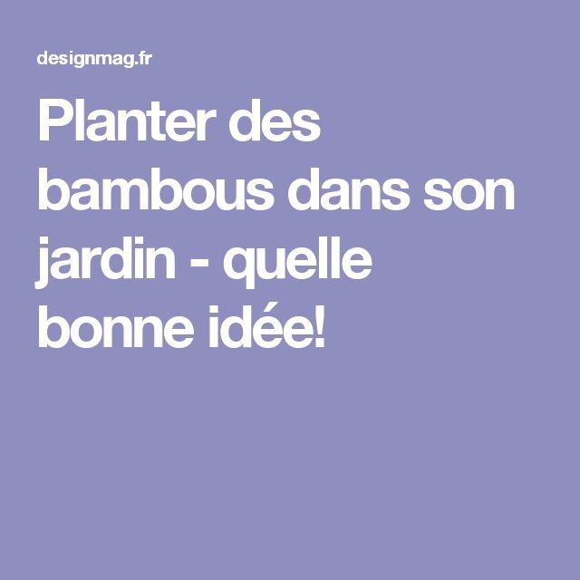 Les 25 Meilleures Id Es De La Cat Gorie Jardin De Bambous Sur Pinterest Culture Du Bambou Et