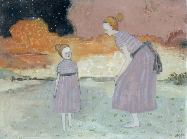 she had conversations with her memories by amanda blake art, via Flickr