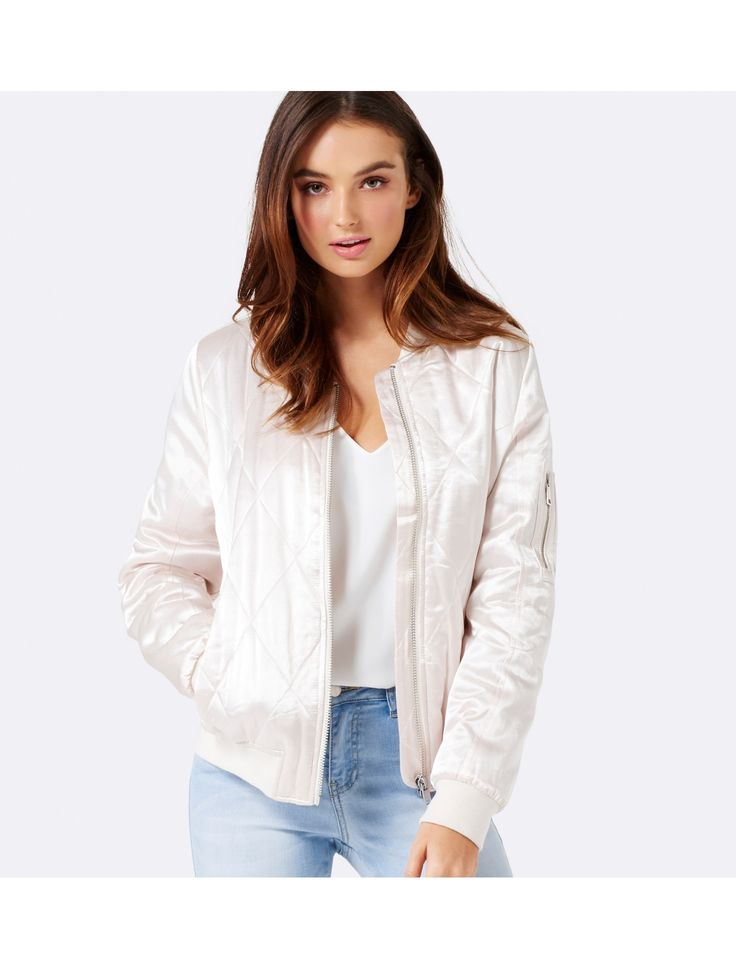 Layer up in style with our Cara bomber jacket, perfect to add a little polish to any ensemble.