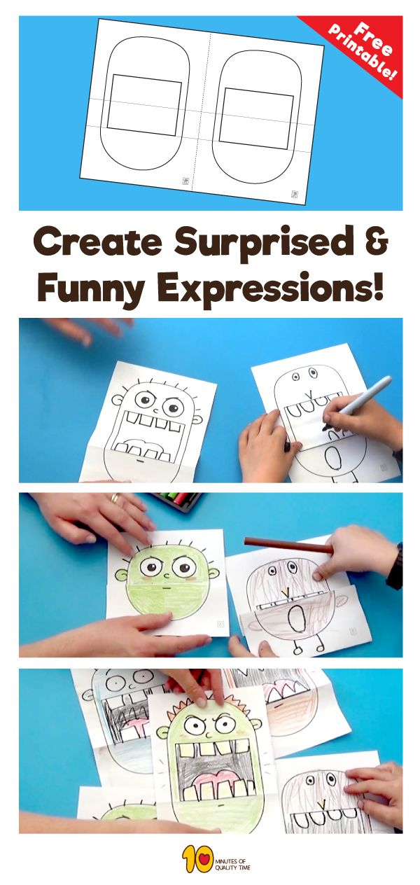 Fun and easy activity to do with kids at home- Surprise expression